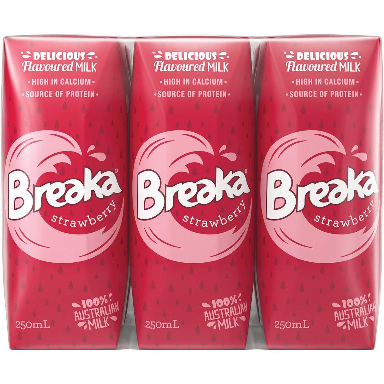 Breaka Strawberry Milk, 6 Each