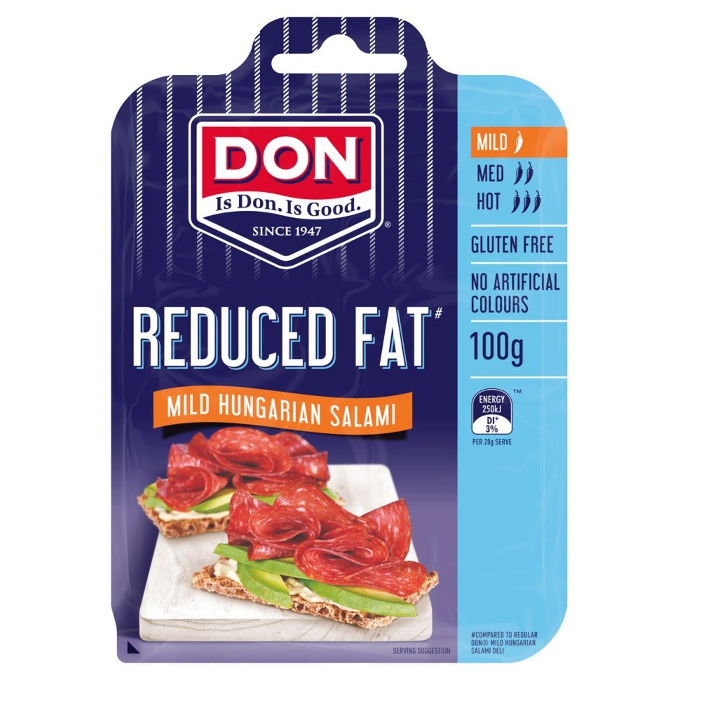 Don Salami Reduced Fat Mild Hungarian , 100 Gram