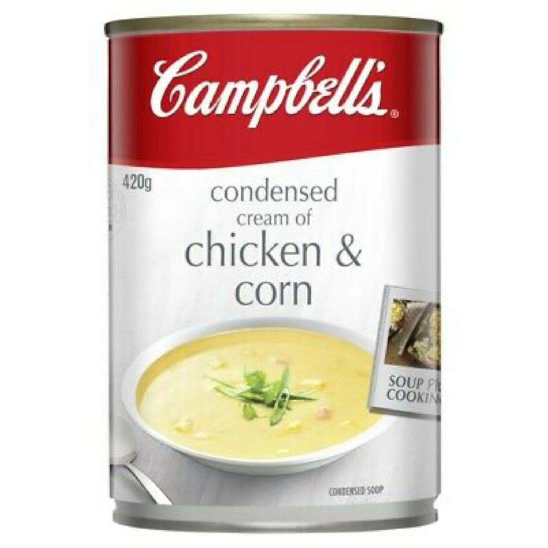 Campbell's Soup Condensed Cream of Chicken & Corn, 420 Gram