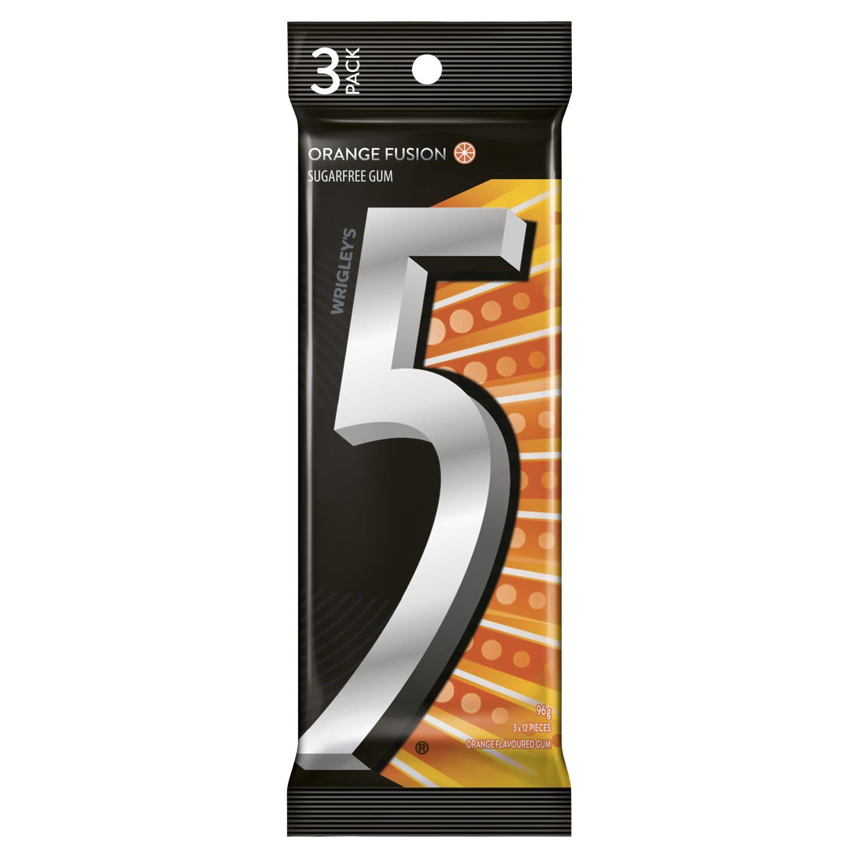 5 Gum Orange Fusion Sugarfree Gum , 3 Each
