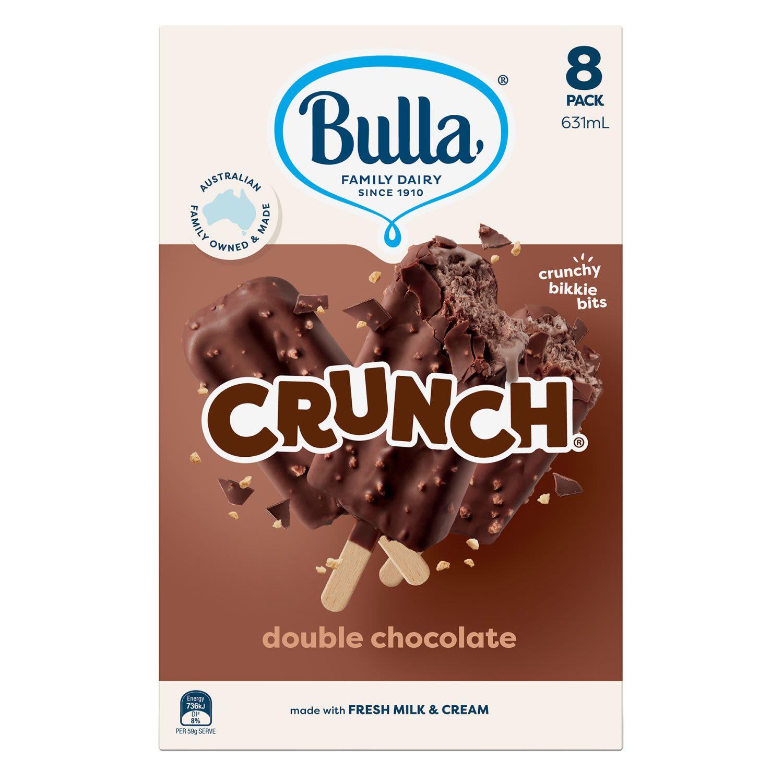 Bulla Double Choc Crunch Ice Creams, 8 Each
