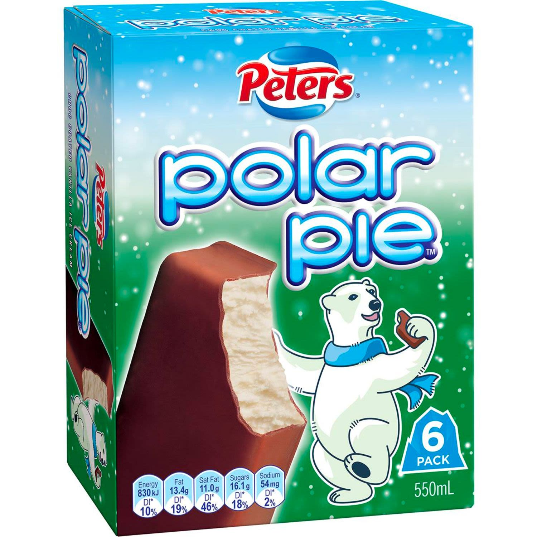 Peters Eskimo Pie Ice Creams, 6 Each