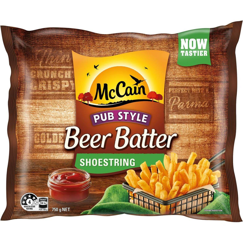 McCain Beer Batter Chips Shoestring, 750 Gram