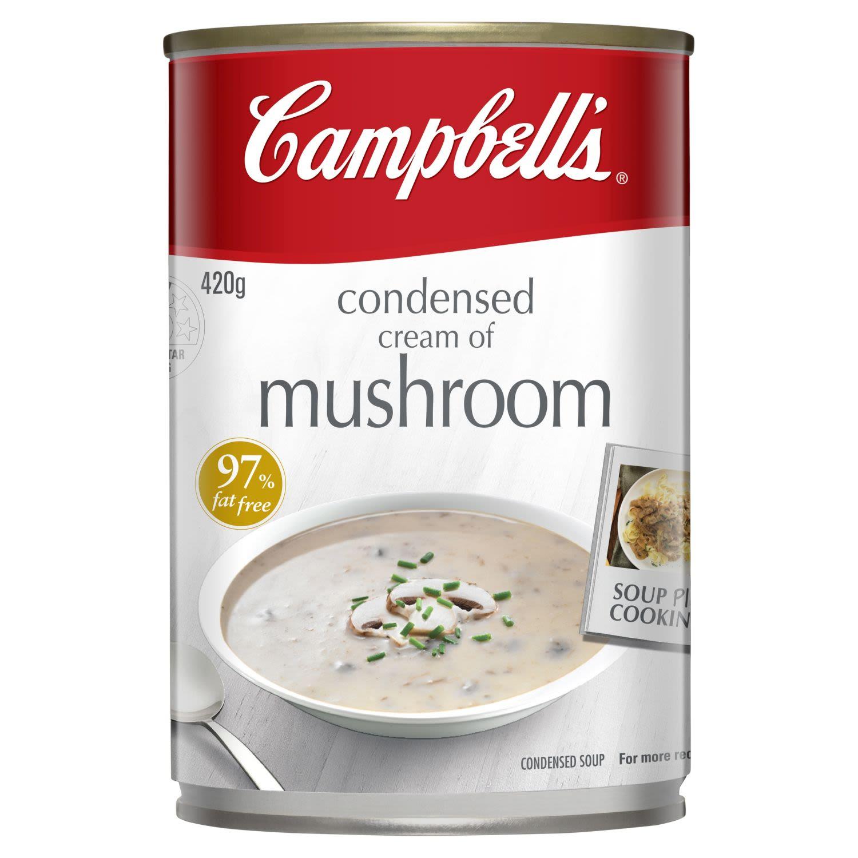 Campbell's Condensed Soup Cream of Mushroom, 420 Gram