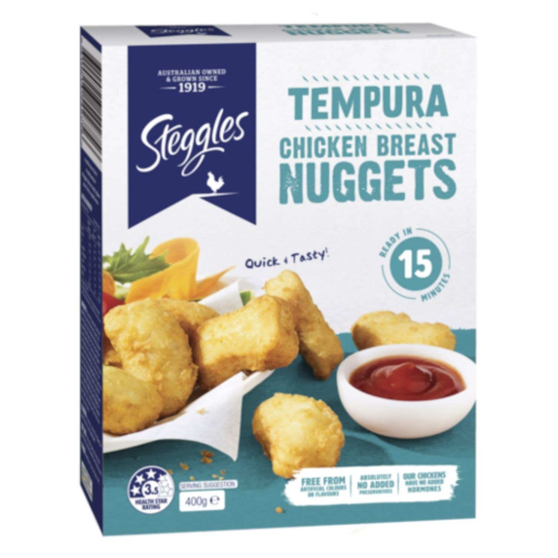 Steggles Tempura Chicken Breast Nuggets, 400 Gram