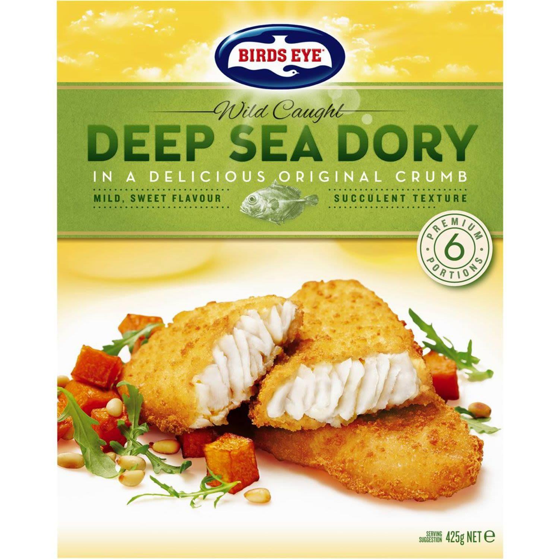 Birds Eye Wild Caught Deep Sea Dory Original Crumb, 425 Gram