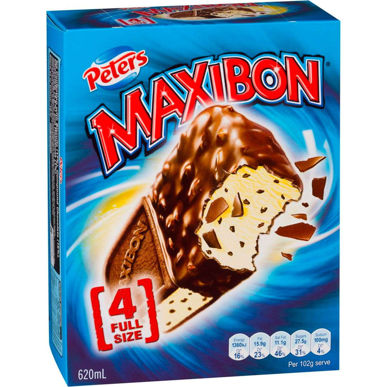 Peters Maxibon Vanilla, 4 Each