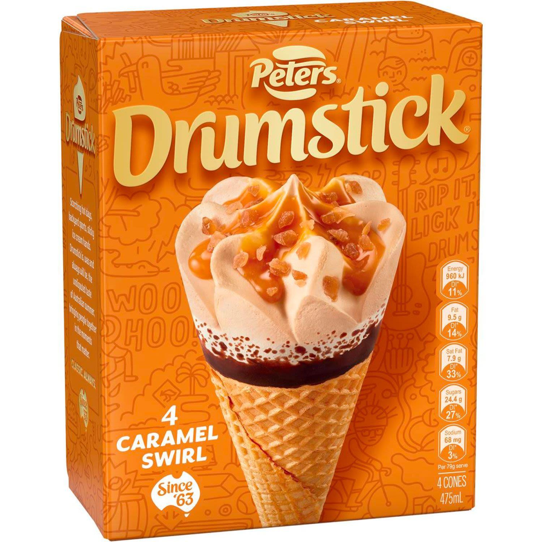 Peters Drumstick Caramel, 4 Each