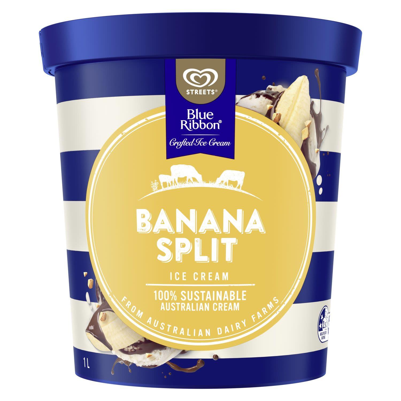 Blue Ribbon Ice Cream Banana Split, 1 Litre