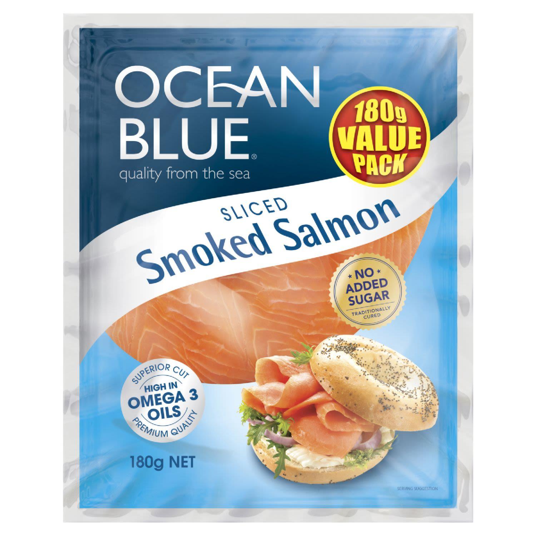 Ocean Blue Smoked Salmon, 180 Gram