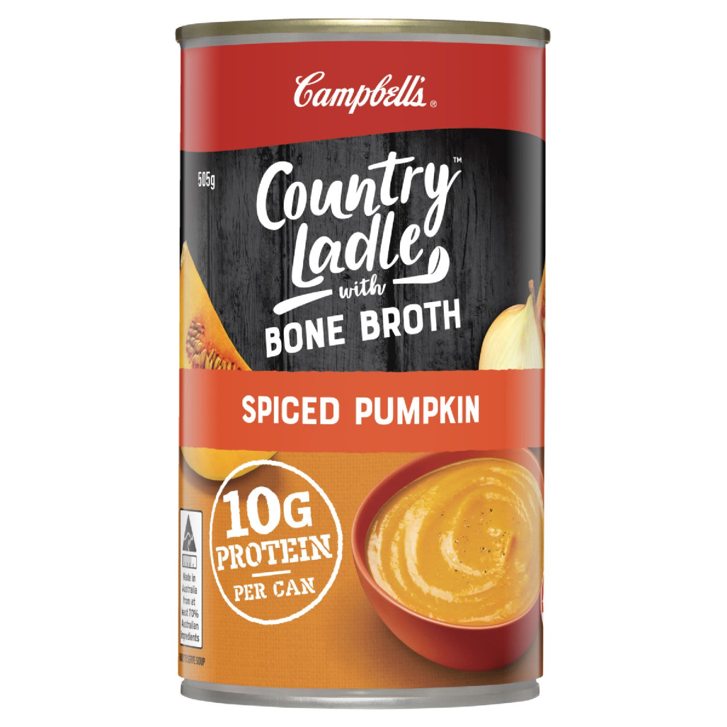 Campbell's Country Ladle Soup Spiced Pumpkin with Chicken Bone Broth, 505 Gram