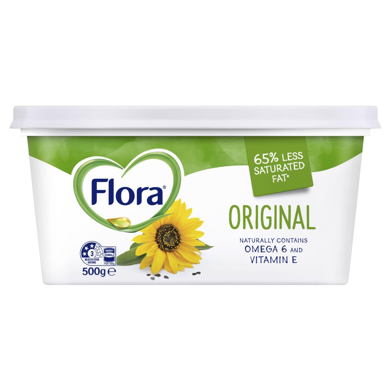 Flora Margarine Spread Original, 500 Gram
