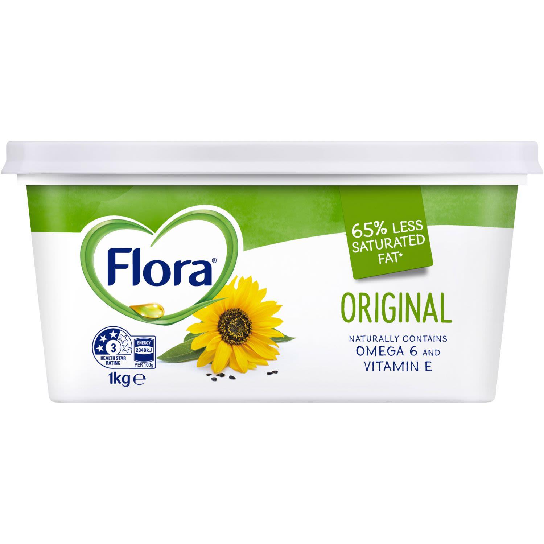 Flora Margarine Spread Original, 1 Kilogram