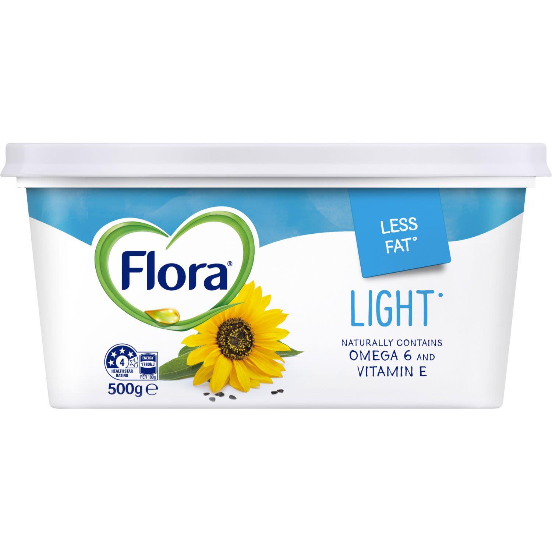 Flora Margarine Spread Light, 500 Gram