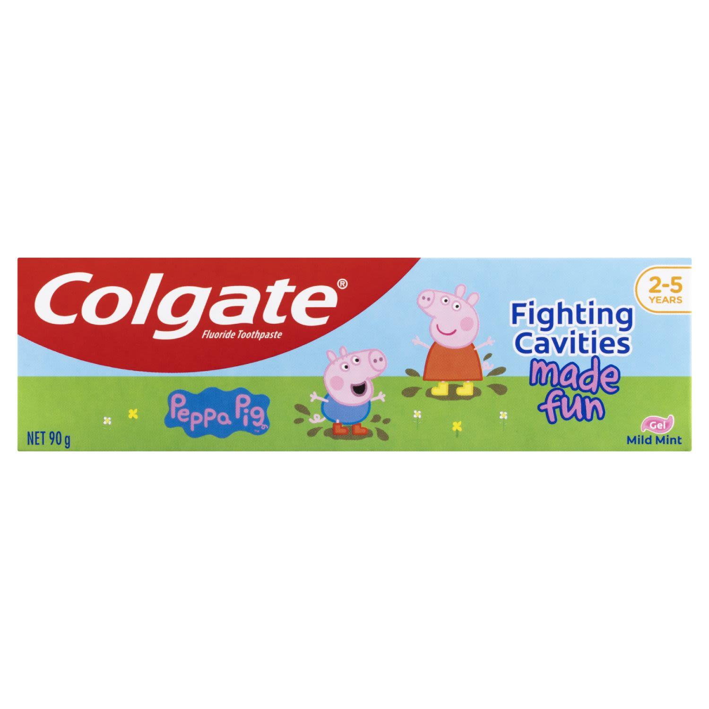 Colgate Kids Peppa Pig Toothpaste Mild Mint Gel Children's Tooth Paste, 90 Gram
