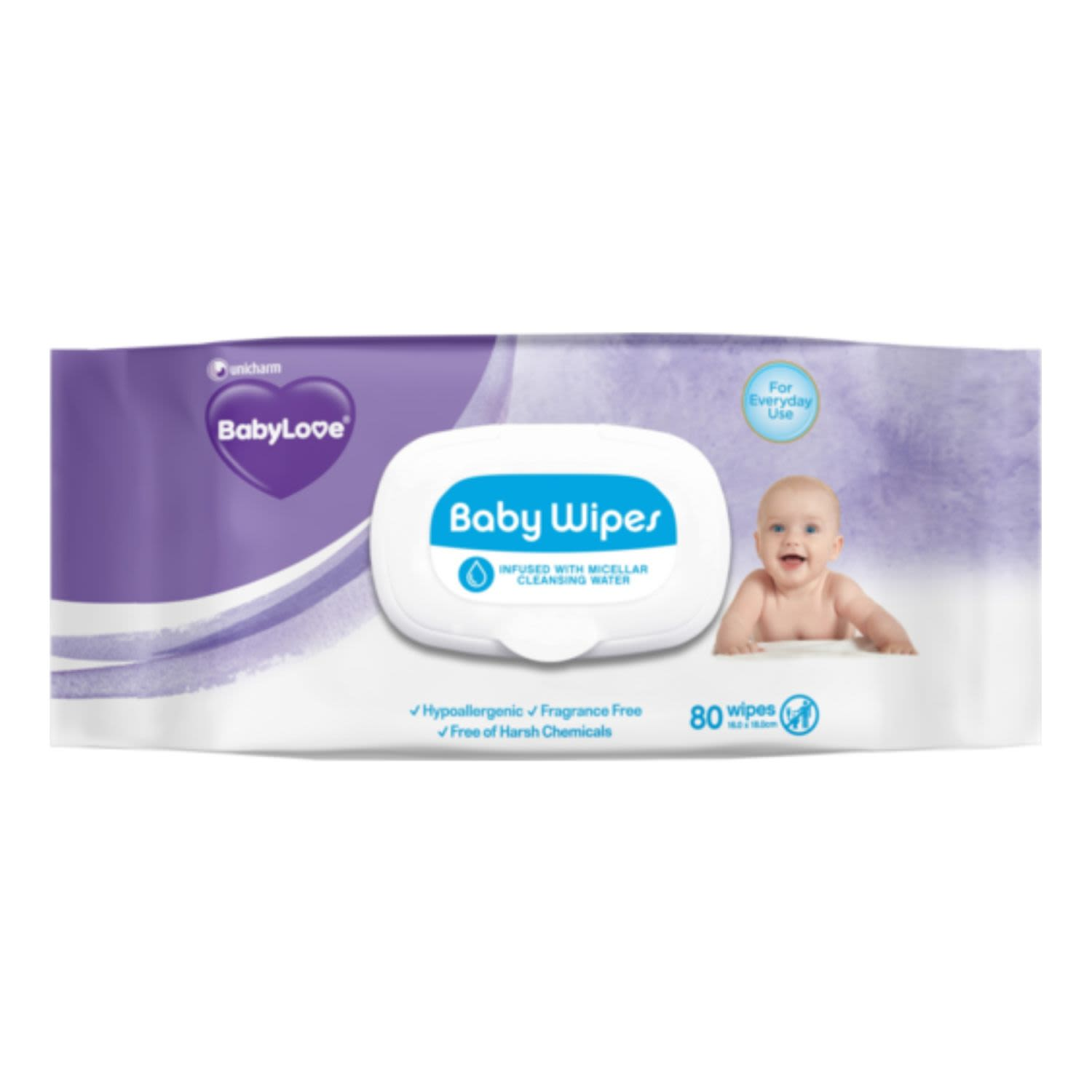BabyLove Everyday Baby Wipes, 80 Each