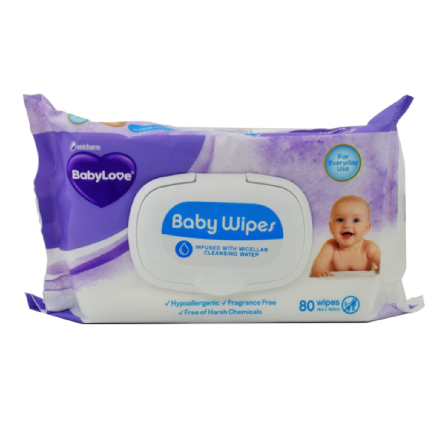 BabyLove Micellar Water Baby Wipes , 80 Each