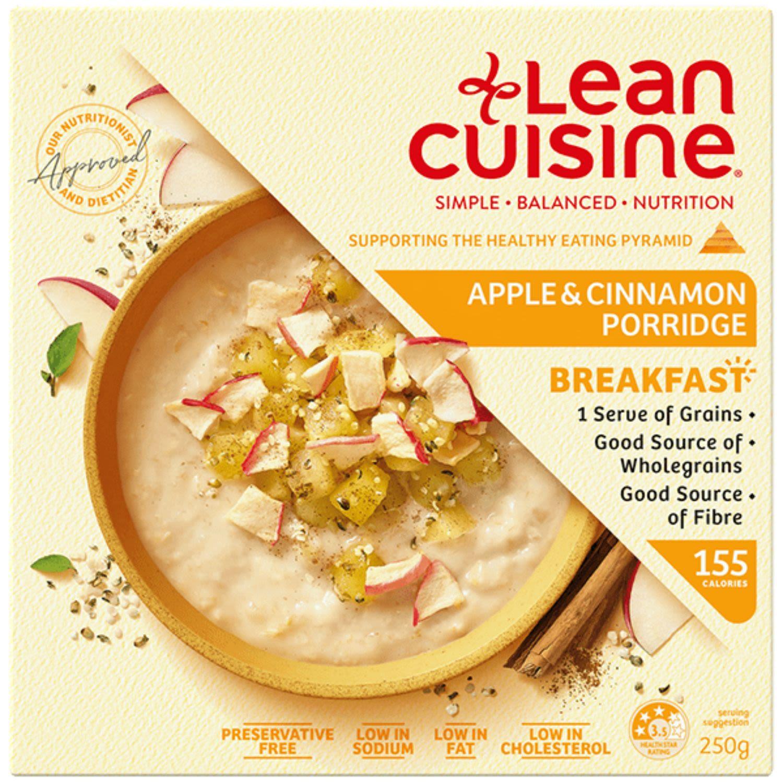 Lean Cuisine Breakfast Apple & Cinnamon Porridge, 250 Gram