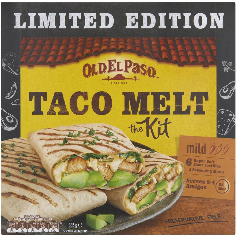 Old El Paso Taco Melt Kit, 385 Gram