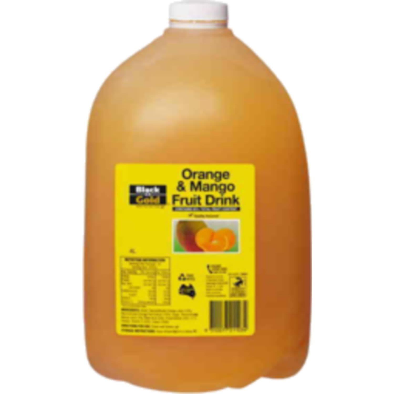 Black & Gold Concentrate Orange & Mango Drink, 4 Litre