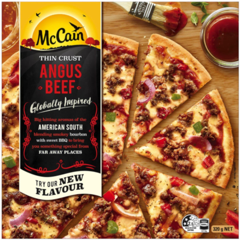 McCain Pizza Ultra Thin Crust Angus Beef, 320 Gram