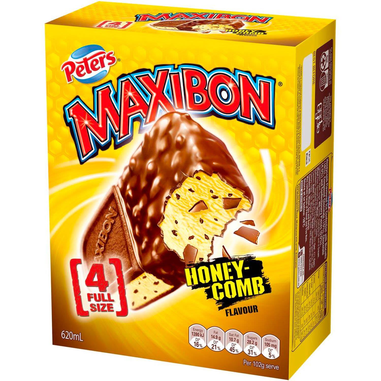Peters Maxibon Honeycomb, 4 Each