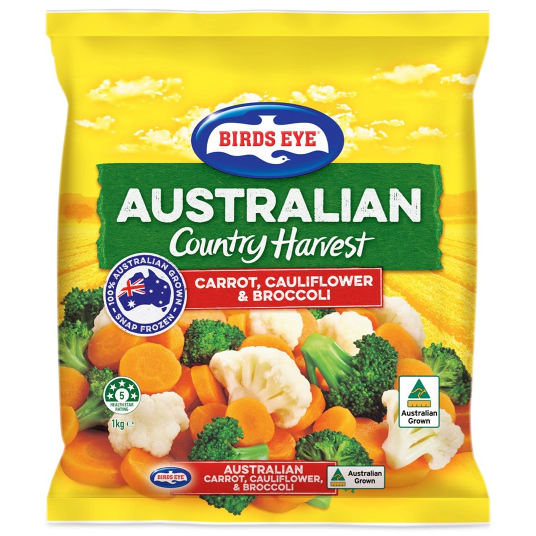 Birds Eye Country Harvest Carrot, Cauliflower & Broccoli, 1 Kilogram