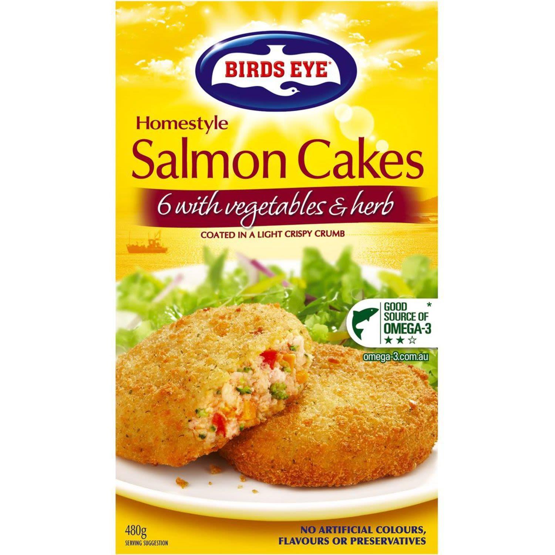 Birds Eye Fish Cakes Salmon With Vegetables & Herbs, 480 Gram