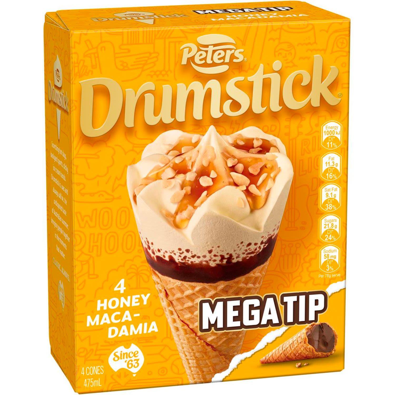 Peters Drumstick Honey Macadamia, 4 Each