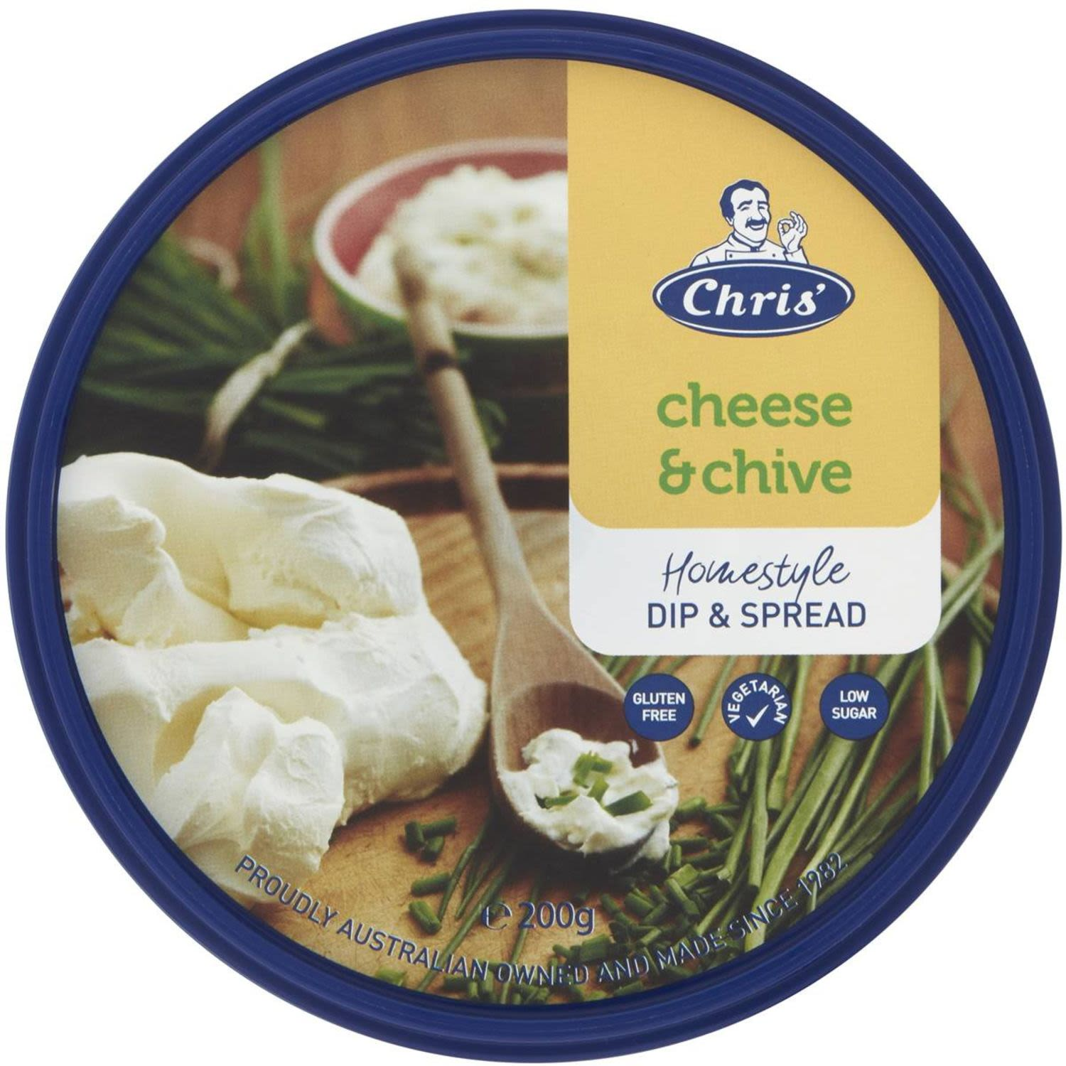 Chris' Traditional Cheese & Chive Dip, 200 Gram