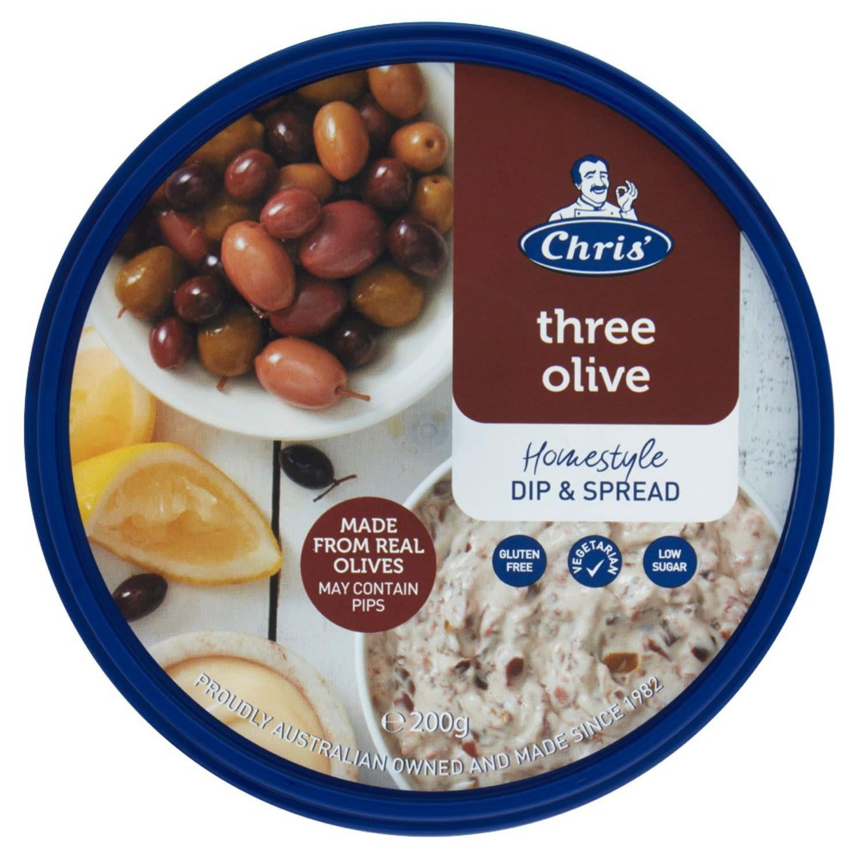 Chris' Three Olive Dip, 200 Gram