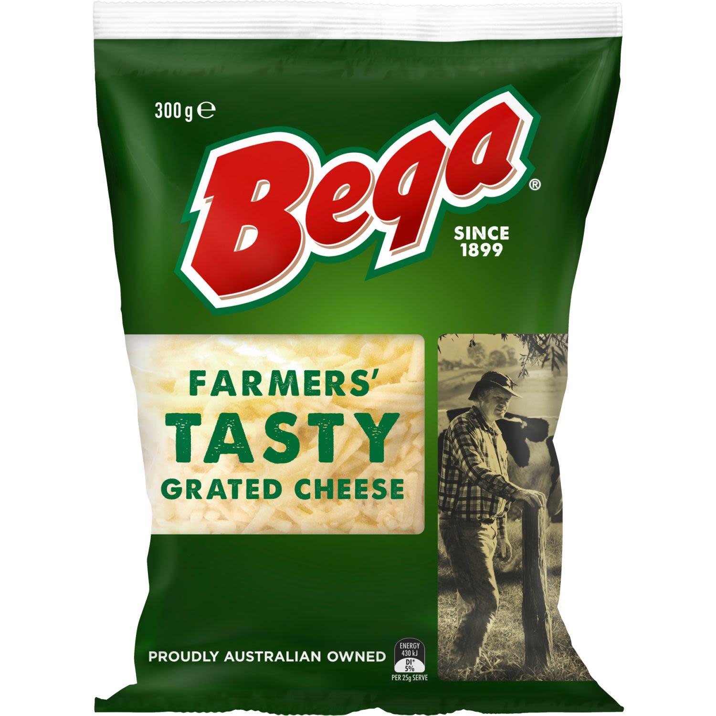 Bega Farmer's Tasty Grated Cheese, 300 Gram