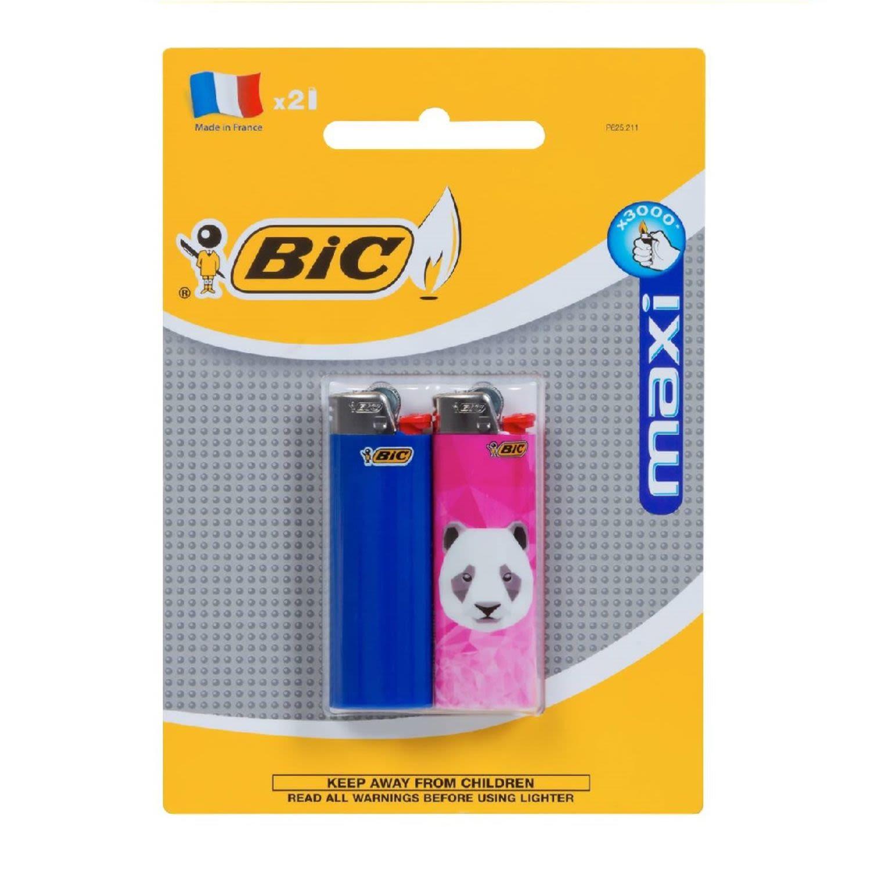 BIC Maxi Lighters, 2 Each