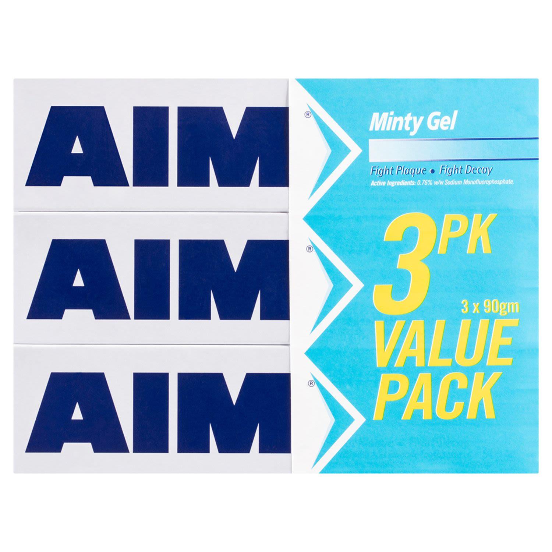 Aim Minty Gel Value Pack, 3 Each