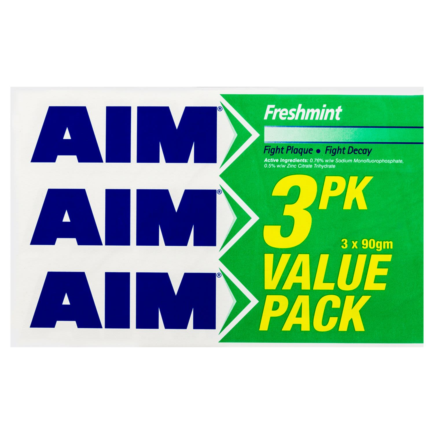 Aim Freshmint Toothpaste Value Pack, 3 Each