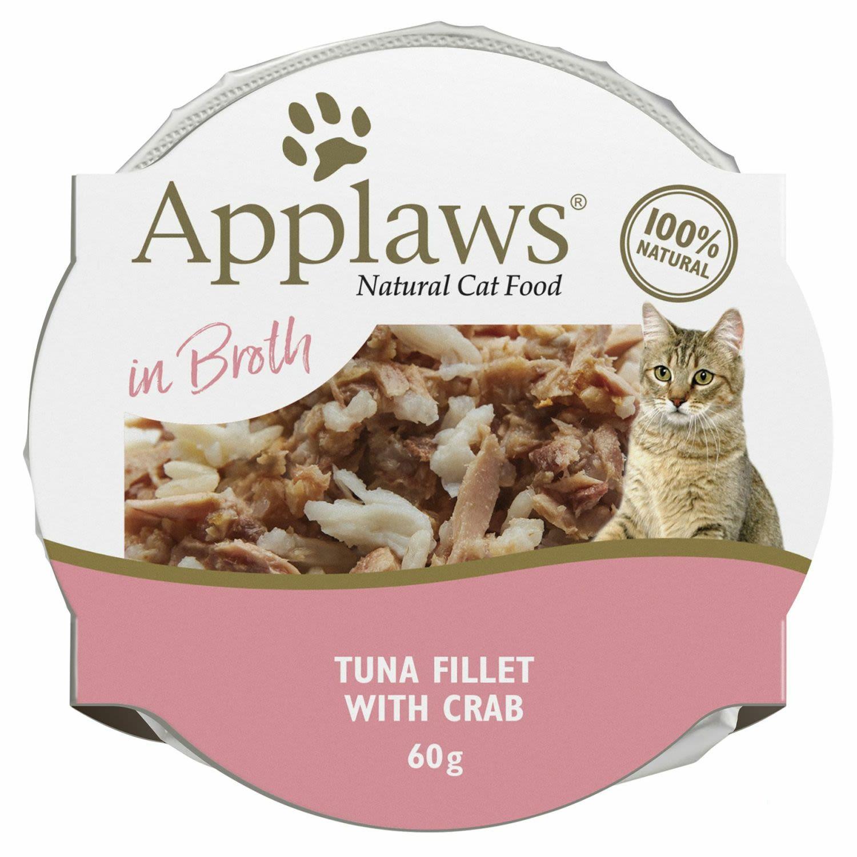 Applaws Cat Pot Tuna Fillet & Crab Cat food, 60 Gram