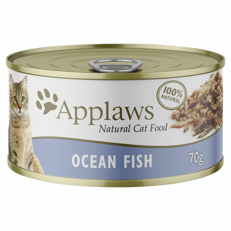 Applaws Cat Tin Ocean Fish in Broth, 70 Gram