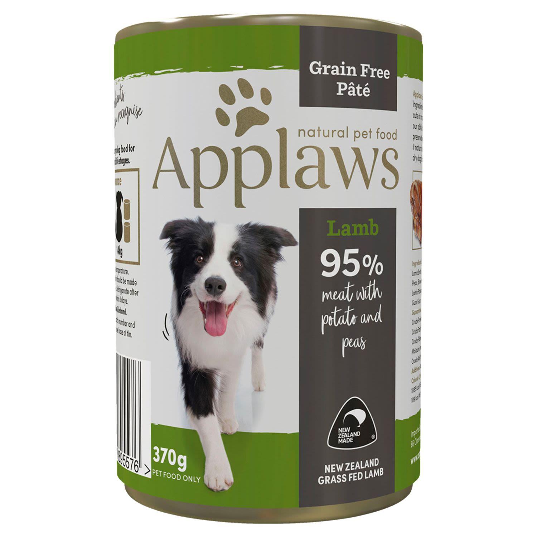 Applaws Dog Tin Lamb Pate with Potato & Peas Dog food, 370 Gram