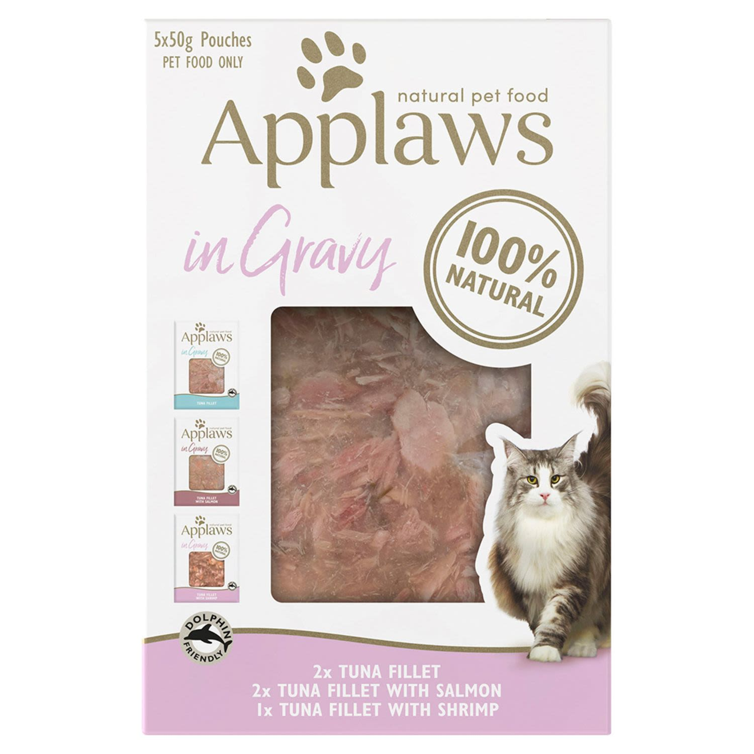 Applaws Cat Pouch Fish Selection in Gravy Cat food, 5 Each
