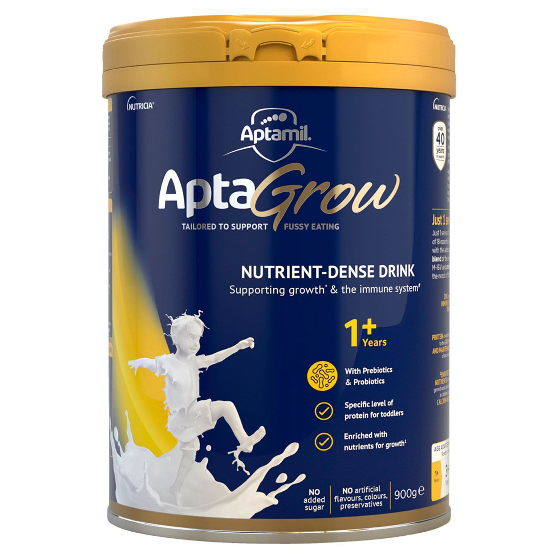 Aptamil AptaGrow Nutrient-Dense Milk Drink From 1+ Years, 900 Gram