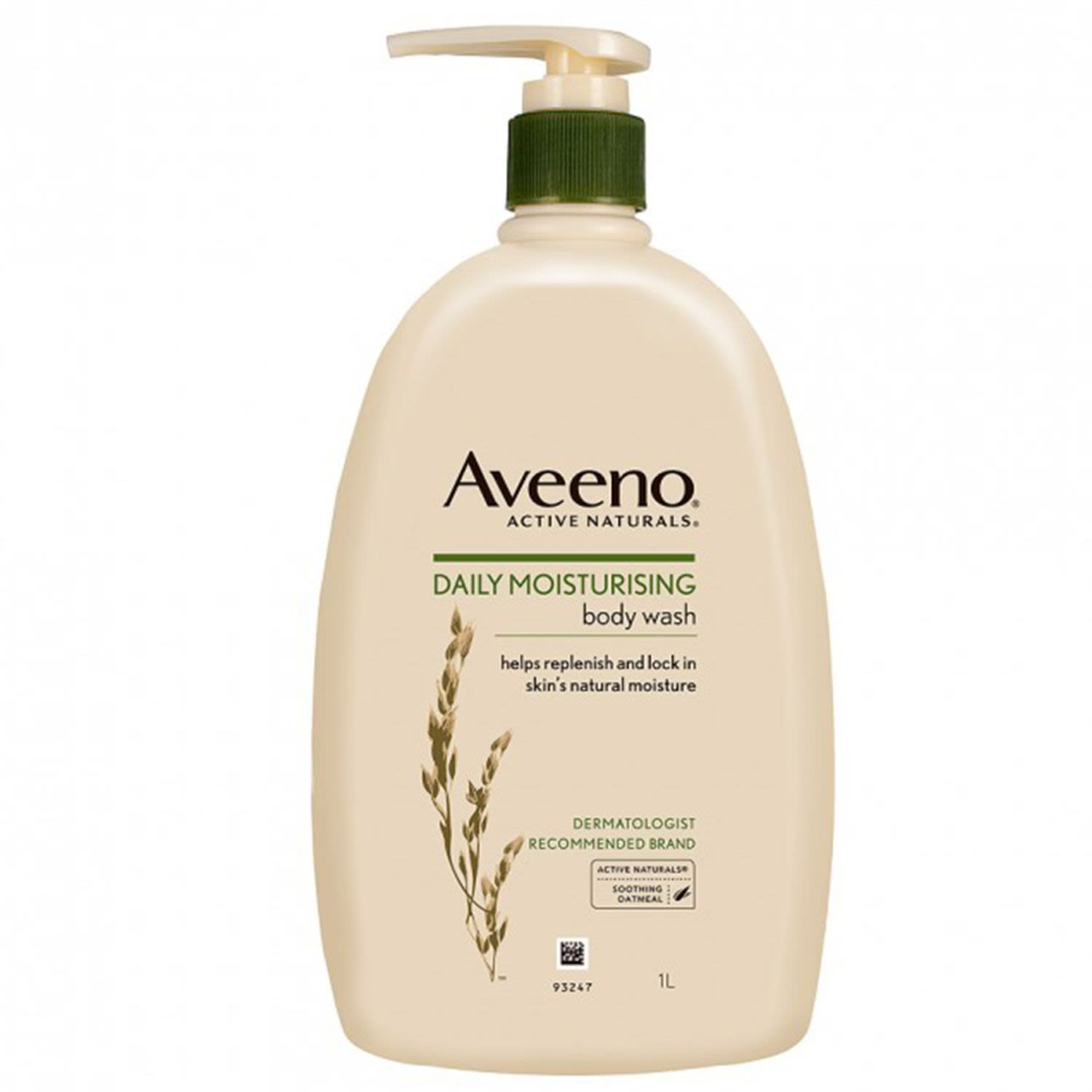 Aveeno Active Naturals Daily Moisturising Body Wash Soothing Oatmeal, 1 Litre