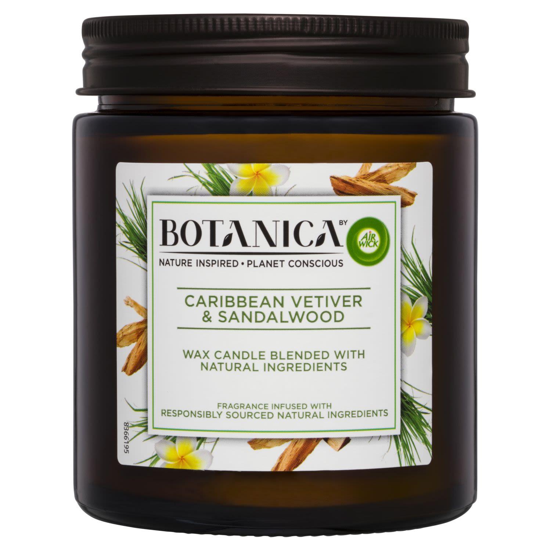 Air Wick Botanica Candle Caribbean Vetiver & Sandalwood, 205 Gram