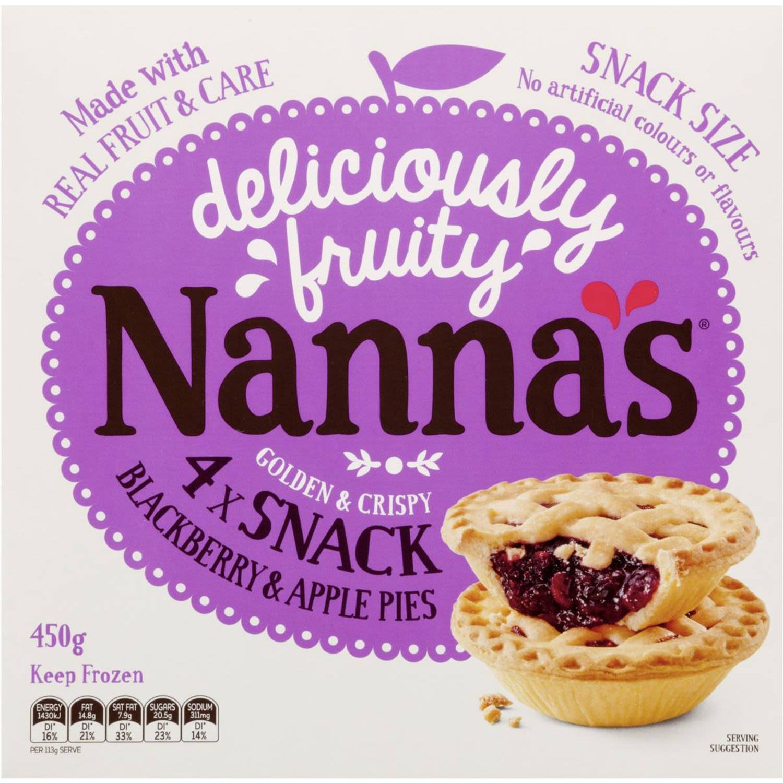 Nanna's Snack Blackberry & Apple Pies, 4 Each