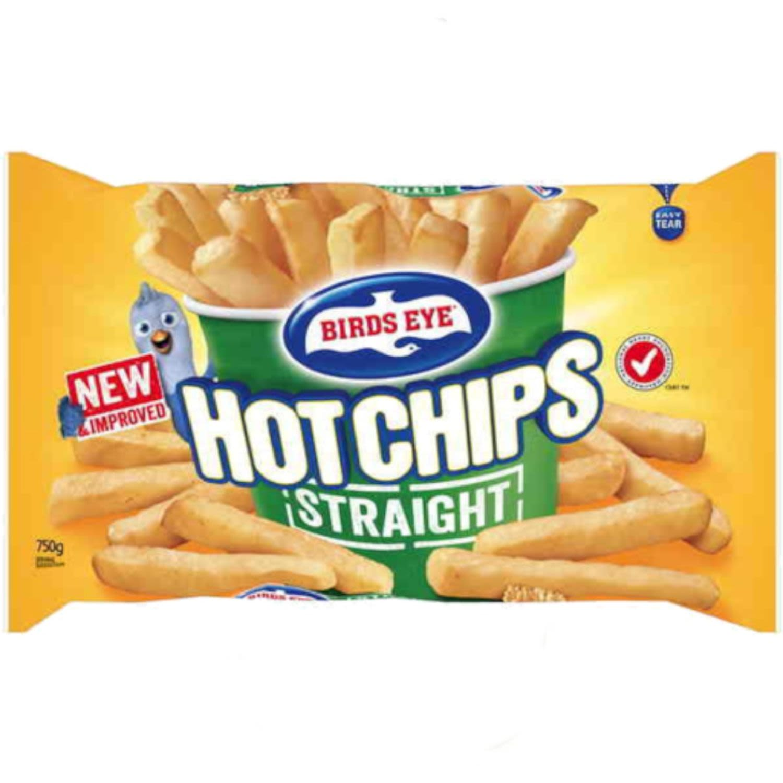 Birds Eye Straight Chips, 750 Gram