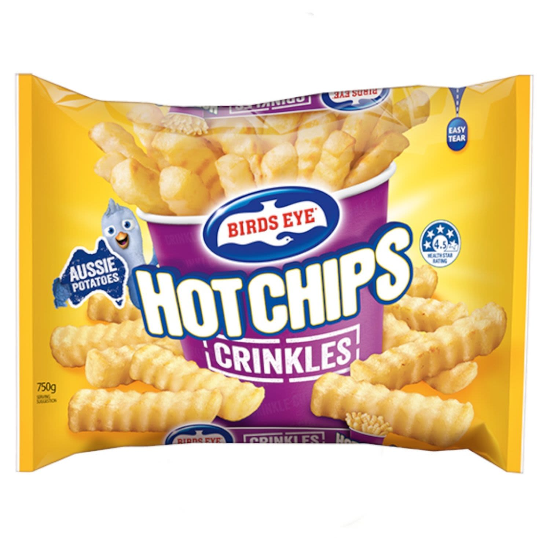 Birds Eye Crinkle  Cut Chips, 750 Gram
