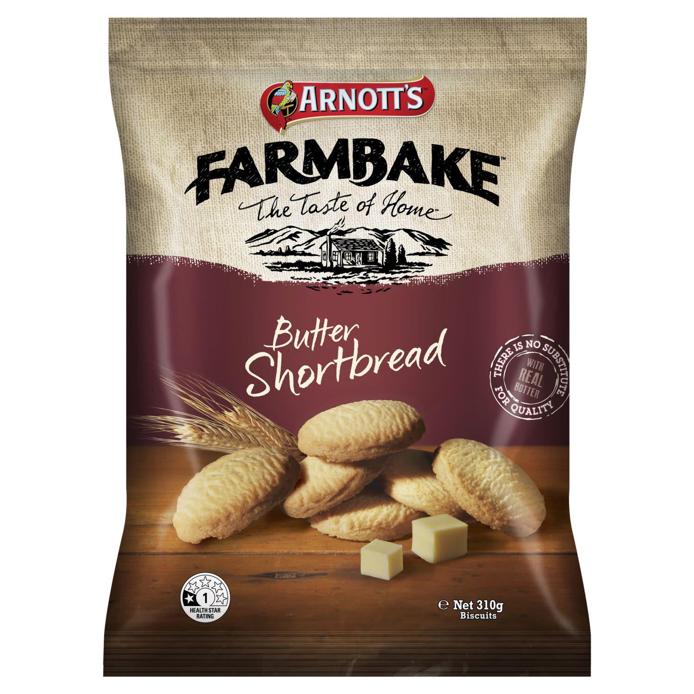 Arnott's Farmbake Cookies Butter Shortbread, 310 Gram