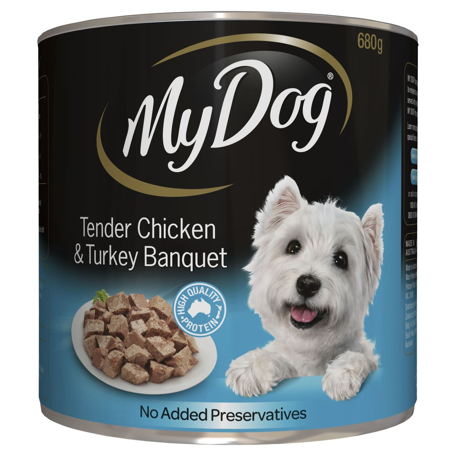 My Dog® Tender Chicken and Turkey Banquet  Loaf Classics Wet Dog Food Can , 680 Gram