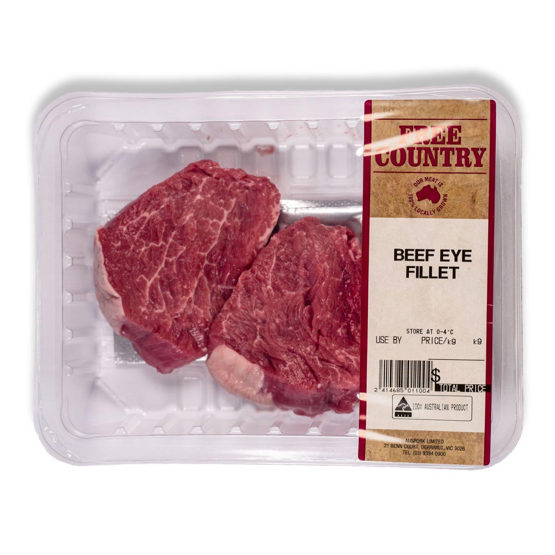 Free Country Beef Eye Fillet, 500 Gram