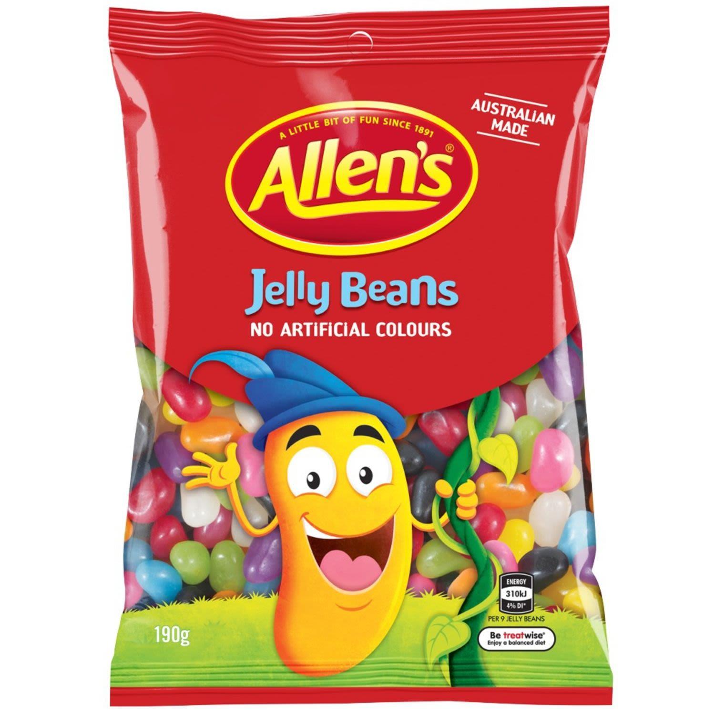 Allen's Jelly Beans Lollies Bag, 190 Gram