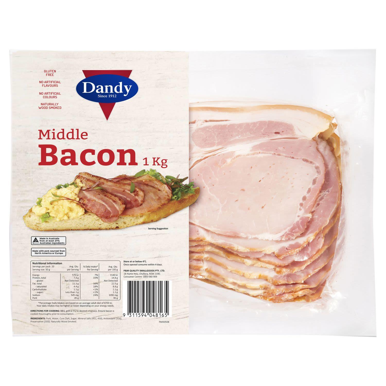 Dandy Middle Bacon, 1 Kilogram
